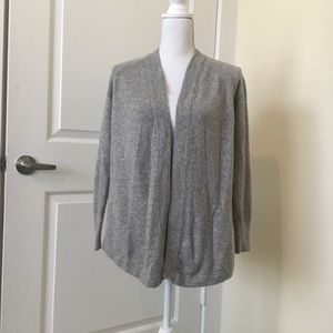 Loft soft grey cardigan. S/P